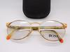 Hugo Boss Designer Oval Gold Glasses At www.eyehuggers.com