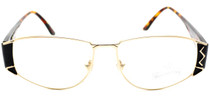 Winchester Redwoods black and gold small aviator frames from eyehuggers Ltd