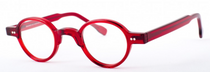 Almost Round Red Acrylic Vintage Style Glasses Handmade In Holland Preciosa 704 At www.eyehuggers.com