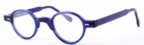 Handmade In Holland Almost Round Blue Preciosa 704 Eye Glasses At www.eyehuggers.com
