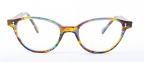Handmade In Holland Panto Shaped Multicoloured Acrylic Glasses By Preciosa At www.eyehuggers.com