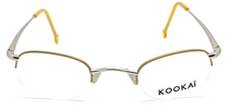 Kookai K072 rimless gold and silver glasses from www.eyehuggers.co.uk