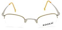 Kookai K072 Half Rim Gold and Silver Glasses from www.eyehuggers.co.uk