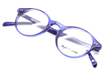 Anglo American 406 TR20 Panto Shaped Blue Acrylic Glasses At Eyehuggers