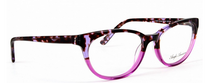 Anglo American Eliska G104 Cat Eye Style Acrylic Glasses In Pink and Purple At www.eyehuggers.co.uk