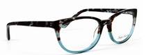 Eliska G108 Turquoise And Black Acrylic Eyewear By Anglo American At www.eyehuggers.com