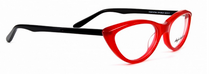 Fontana OP2/Black Vintage Cat Eye Style Acrylic Glasses By Anglo American At www.eyehuggers.com