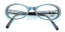 Versace V23 Grey/Blue oval acrylic frame from www.eyehuggers.co.uk