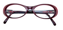 Versace V23 A56 burgundy oval frames from www.eyehuggers.co.uk