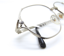 Oversized Shiny Silver Vintage Glasses By Eyedeal At www.eyehuggers.co.uk