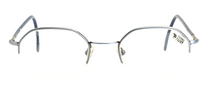 Designer Vintage Hexagonal Shaped Half Rimmed Spectacles At Eyehuggers Ltd