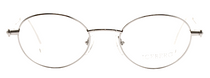 Iceberg 73 Classic Oval Designer Glasses In Silver At Eyehuggers