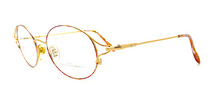Jean-Louise Scherrer Designer Vintage Oval Spectacles In Gold Finish At Eyehuggers