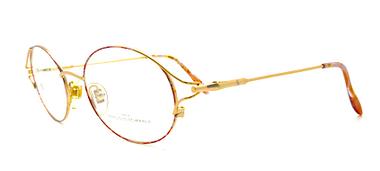 Jean-Louise Scherrer Designer Vintage Oval Spectacles In Gold Finish At Eyehuggers