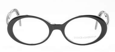 Oval Black & White Dolce & Gabbana Acrylic Glasses At Eyehuggers
