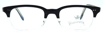 SEQUOIA Vintage Italian Frames In Black And Clear Acrylic Half Rim Effect By Winchester 1866