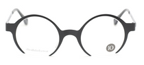 LIO Round Style Glasses In Black and Silver At Eyehuggers