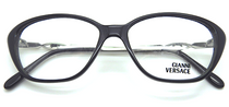 Versace V28 Black Designer Glasses from www.eyehuggers.co.uk