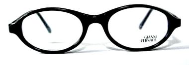 Versace V20 Black Oval Acrylic Glasses from www.eyehuggers.co.uk