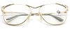 Large Panto Shaped Designer Spectacles By Faberge At www.eyehuggers.co.uk