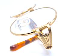 Designer Oval Glasses in Gold & Tortoiseshell By Carolina Herrera At www.eyehuggers.co.uk