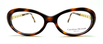 Vintage Oval Style Thick Acrylic Designer Eyeglasses By Carolina Herrera At www.eyehuggers.co.uk