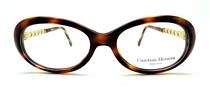 Vintage Oval Style Thick Acrylic Designer Eyeglasses By Carolina Herrera At www.eyehuggers.co.uk