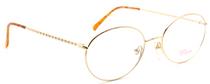 Lolita Lempicka LE7634 0001 Gold Oval Frames from www.eyehuggers.co.uk
