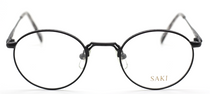 SAKI 570 Matt Black Engraved Vintage Glasses At Eyehuggers