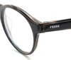 Layered Black and Horn Effect Panto Shaped Vintage Eyewear By Gianfranco Ferre At www.eyehuggers.co.uk