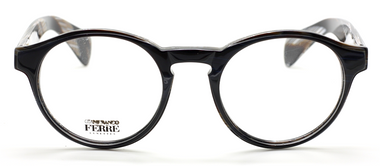 Gianfranco Ferre GFF 630 Black and Horn Effect Acrylic Glasses At Eyehuggers