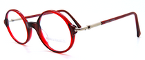Round Red Acrylic Vintage Glasses AF 706 By Alberta Ferretti At Eyehuggers