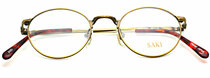 Saki 570 AGD Antique Gold Oval Eyewear from www.eyehuggers.co.uk