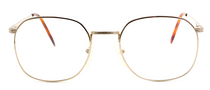 Designer Vintage Spectacles In Shiny Gold By Avalon At www.eyehuggers.co.uk