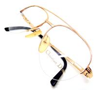 Gold Designer Aviator Glasses Frames - suitable for prescription lenses