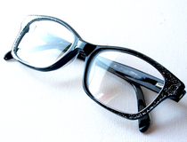 Vintage style spectacles in black acrylic finish