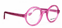 Anglo American 221E Pink Acrylic True Round Glasses At Eyehuggers