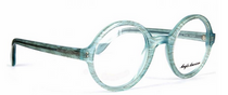 Pale Blue Acrylic 221E Round Glasses By Anglo American At Eyehuggers