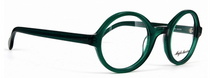 Anglo American 221E OP22 Green Acrylic Thick Rimmed Round Glasses At Eyehuggers