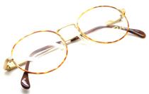 Classic Tura 722 Designer Gold and Tortoiseshell Round Style Eyewear