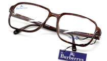 B8279 Larger Style Retro Old Fashioned Eyewear In Tortoiseshell Effect Acrylic By Burberry 56mm