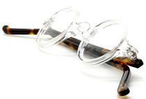 Anglo American Groucho Clear and Amber Havana (CC/AH) Spectacles from www.eyehuggers.co.uk