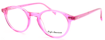Retro Panto Shaped Anglo American 406 Eyewear In A Stunning Pink Acrylic At Eyehuggers
