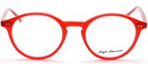 Vintage Style Bright Red Acrylic Panto Shaped Glasses By Anglo American At www.eyehuggers.co.uk