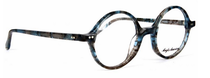 Blue and Black Flecked True Round 400 Glasses By Anglo American At Eyehuggers