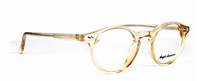 Vintage Style Translucent Tan Acrylic Panto Shaped Glasses By Anglo American At www.eyehuggers.co.uk