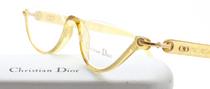 Vintage Designer Christian Dior 3021 Acrylic Half Moon Eyewear At Eyehuggers