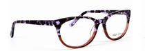 Anglo American Eliska G105 Cat Eye Style Acrylic Glasses In Purple Tortoiseshell and Red At www.eyehuggers.co.uk