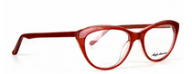 Panto Shaped Red Acrylic Glasses By Anglo American - Fayette - At www.eyehuggers.co.uk