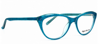 Cat Eye Shaped Blue Acrylic Glasses By Anglo American - Fayette - At www.eyehuggers.co.uk